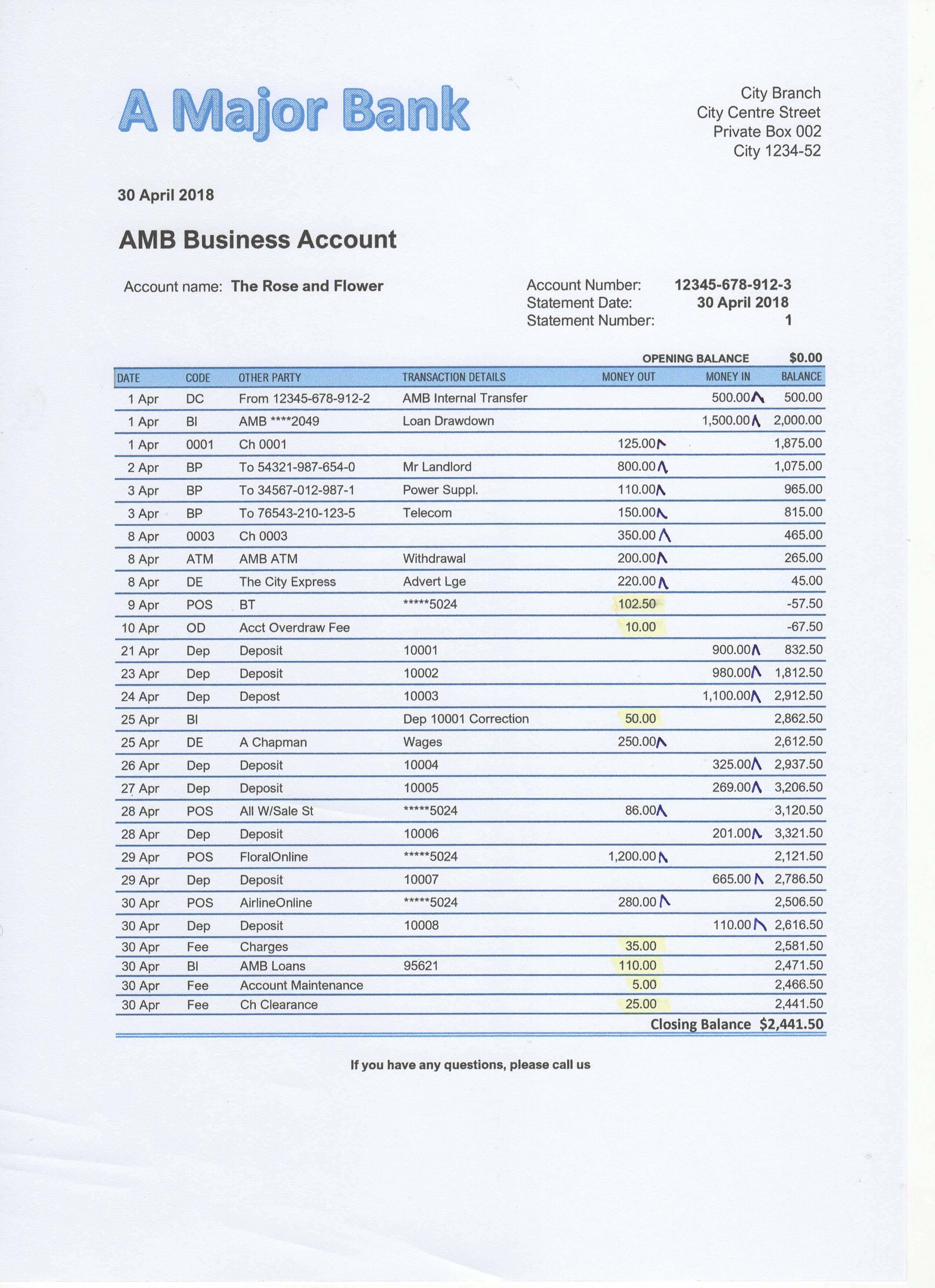 Bank Reconciliation Exercises And Answers Free Downloads
