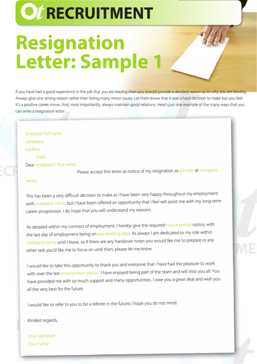 Need A Resignation Letter Samples HereS A Free Template Create
