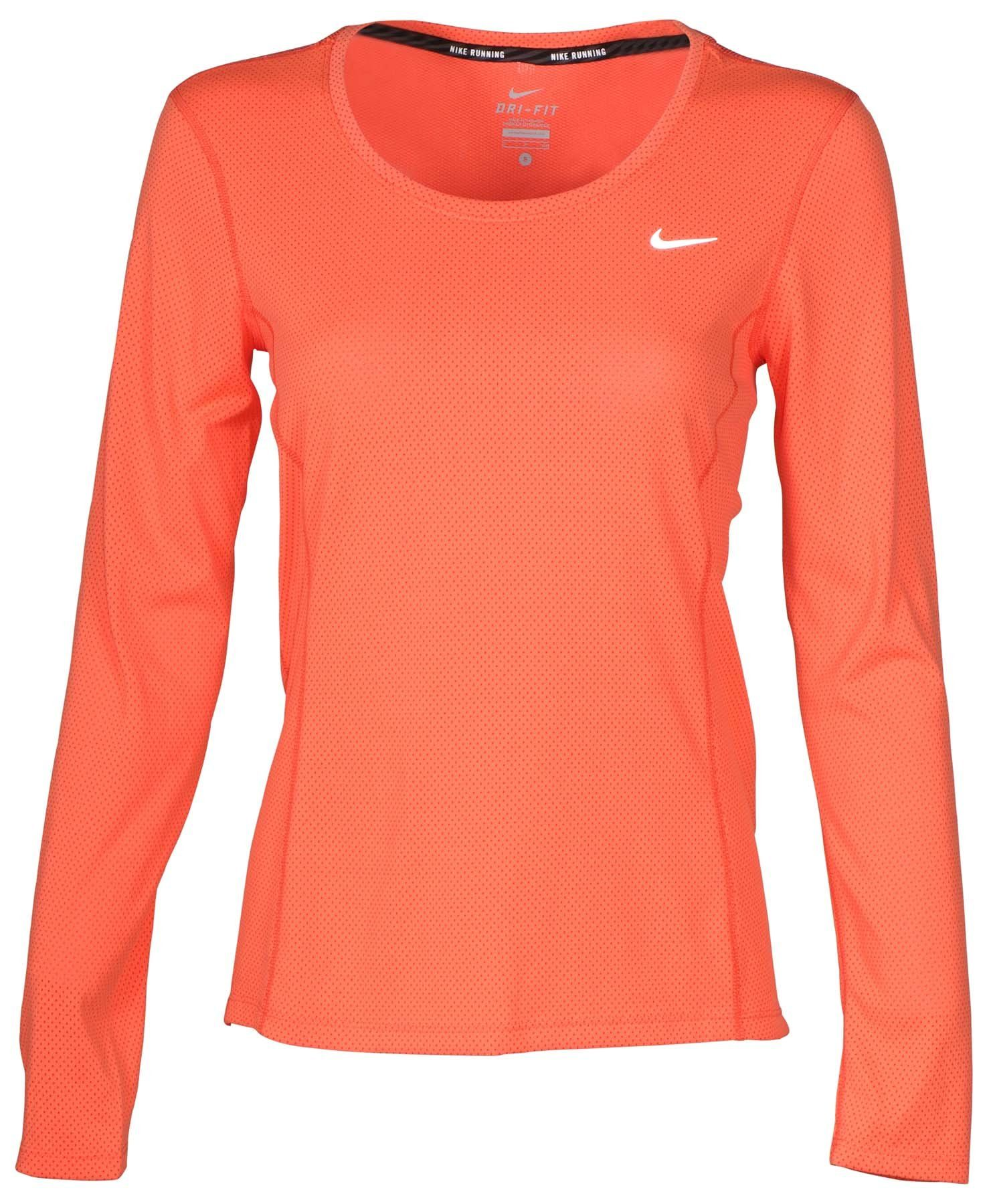087a16a41f43 Nike Women s Dri-Fit Contour Long Sleeve Running Shirt-Coral-Small.  Authentic