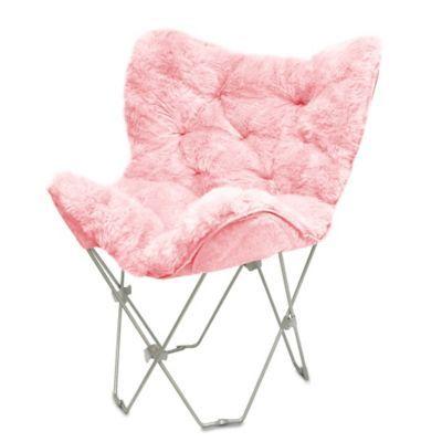 Faux Fur Butterfly Chair