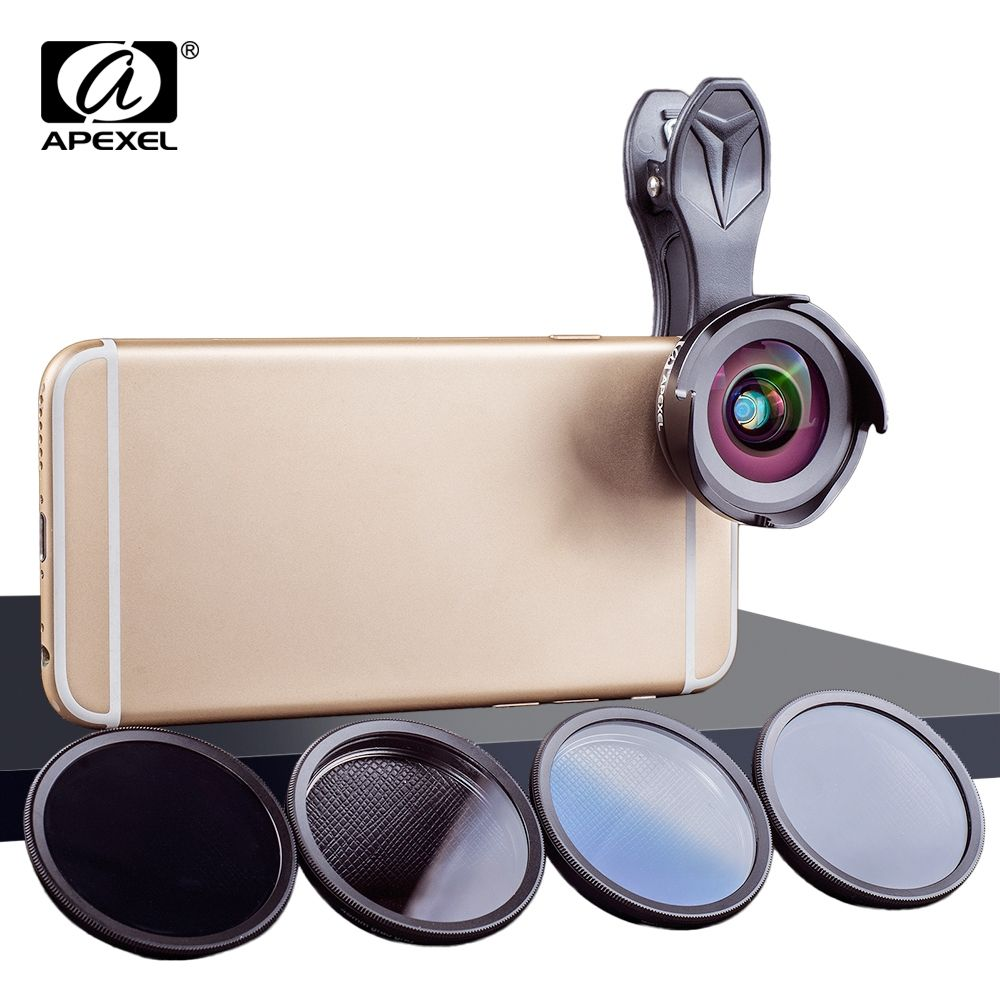 APEXEL Smartphone mini Camera Lenses HD Professional Wide Angle/Macro Lens with Grad Filter CPL ND Filter for Android IOS #wideangle