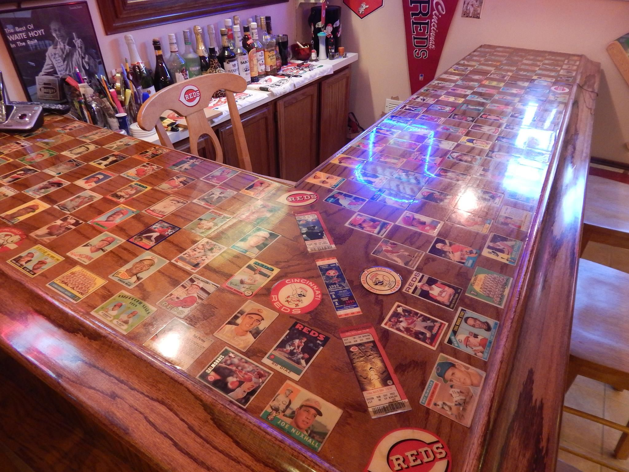 Reds Baseball Card Bar Top Reds In 2019 Man Cave