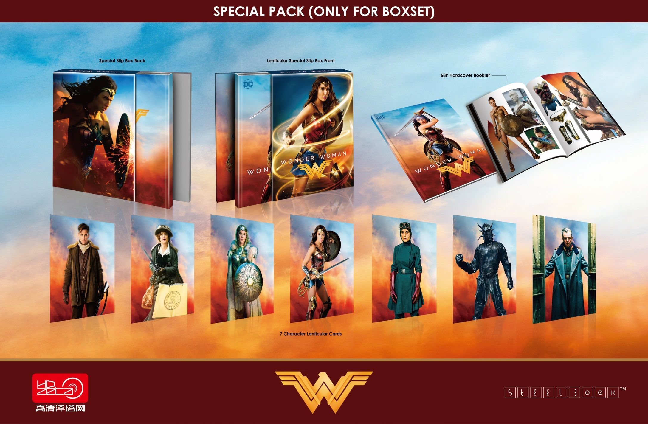 Wonder Woman Special Pack Edition 4k 3d 2d Blu Ray