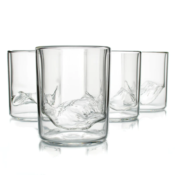 The Rockies Set Of 4 Wine Glass Stemless Wine Glass Settings