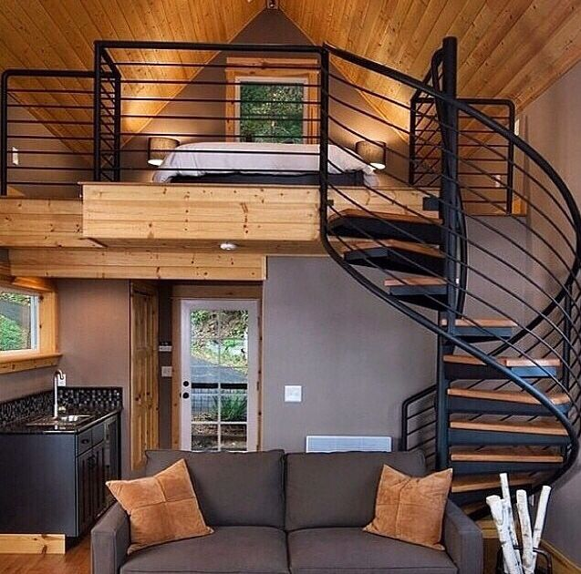 Loft Style Tiny House Living Tiny House Design Home