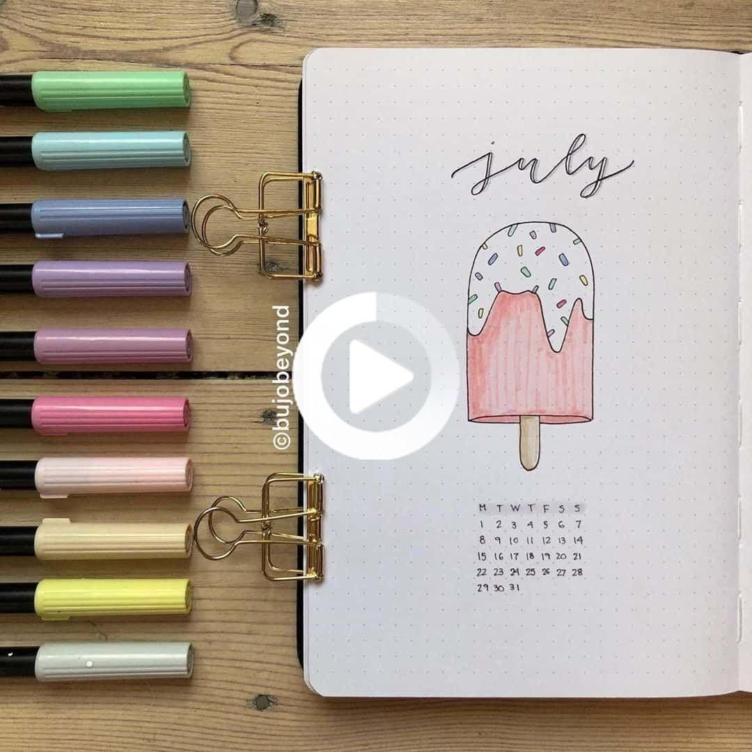 Pin on bullet journal calendar