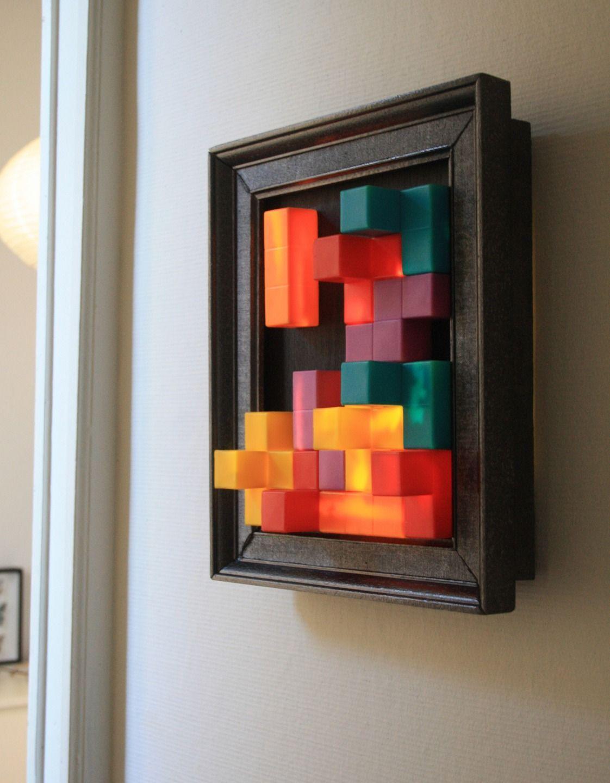lampe t tris tableau lumineux led luminaires par carte blanche lumi re. Black Bedroom Furniture Sets. Home Design Ideas