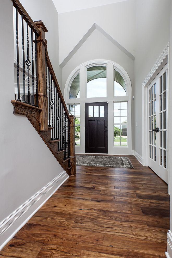 Sherwin Williams Repose Gray Foyer Sherwin Williams Repose Gray Paint Color Sherwin Willia Paint Colors For Living Room Living Room Wood Floor Grey Wood Floors