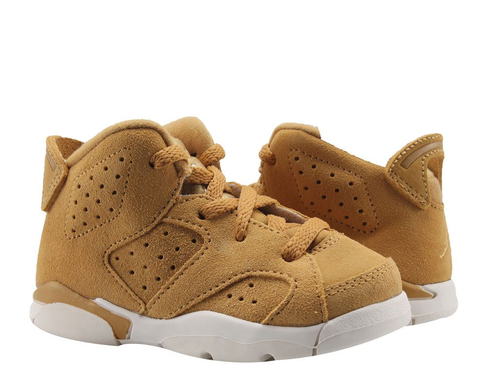 premium selection 636b4 e3701 Nike Air Jordan 6 Retro BT Golden Harvest Wheat Toddler Kids Shoes  384667-705   Clothing, Shoes   Accessories, Kids  Clothing, Shoes   Accs,  ...