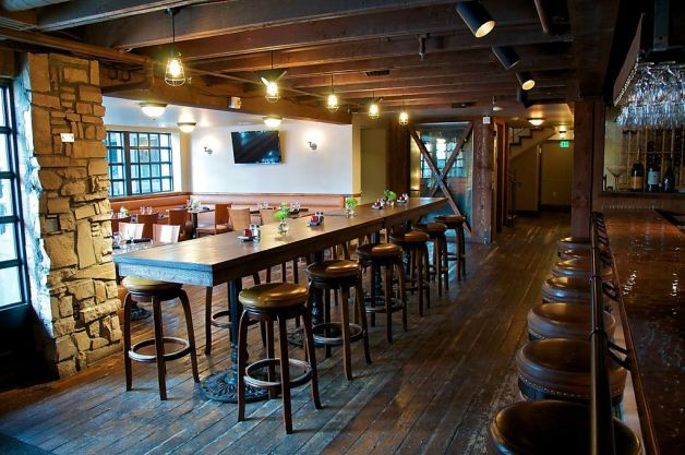 Park city boasts two new restaurants upscale restaurant bars pinterest open table - Restaurant communal tables ...