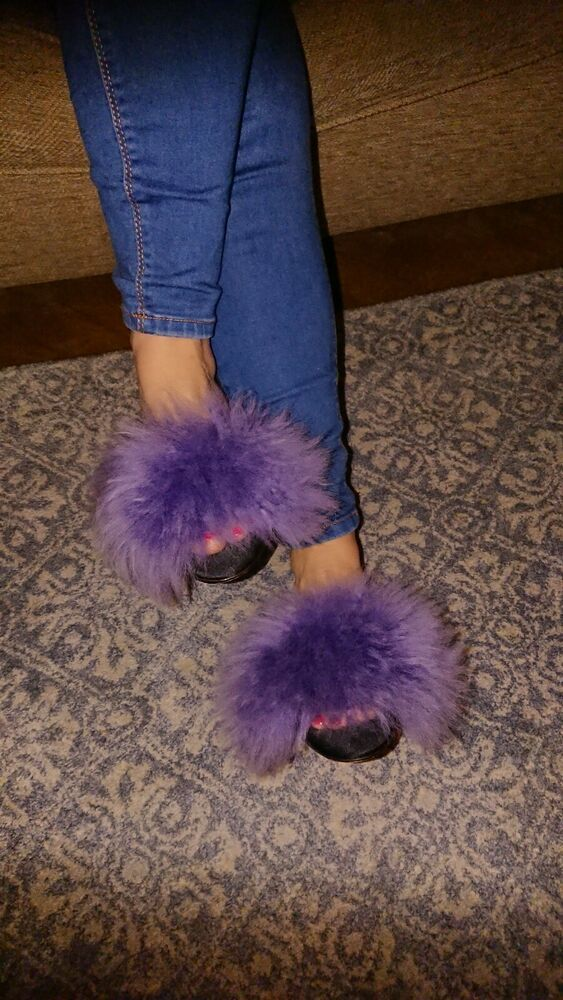Pin on marabou slippers