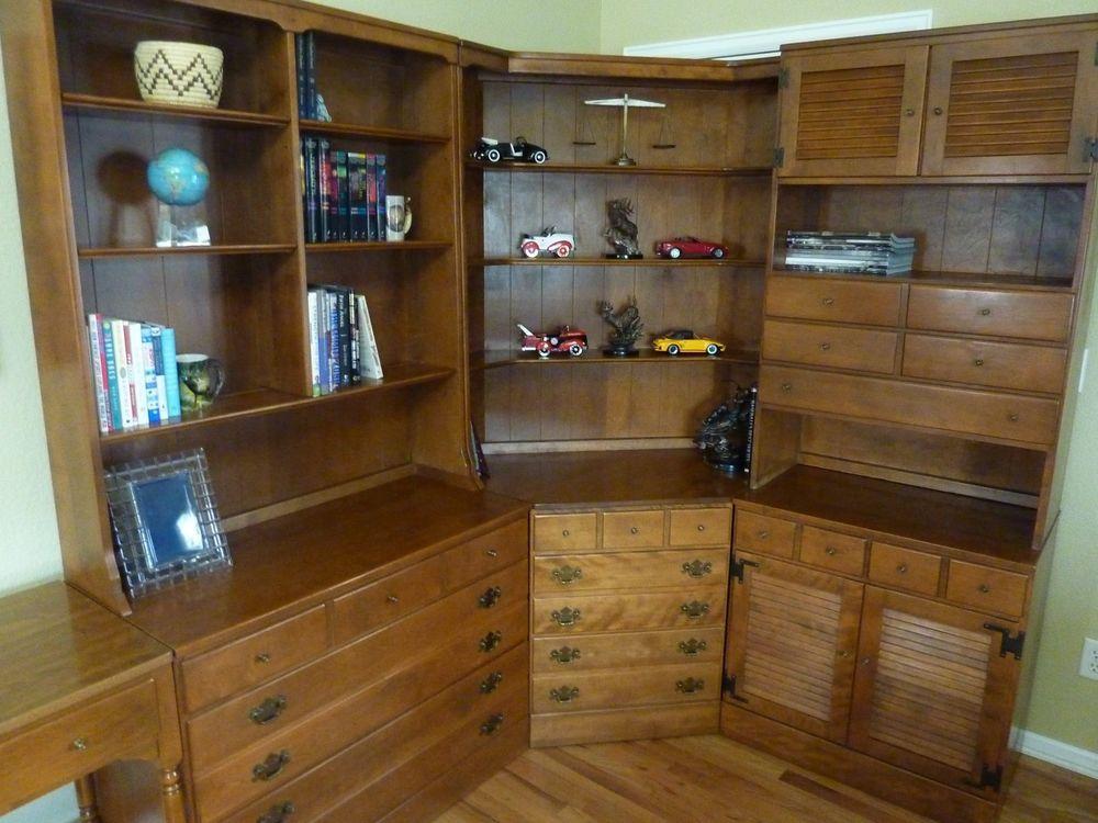 Vintage Ethan Allen 7 Piece Maple Furniture Custom Plan Desk