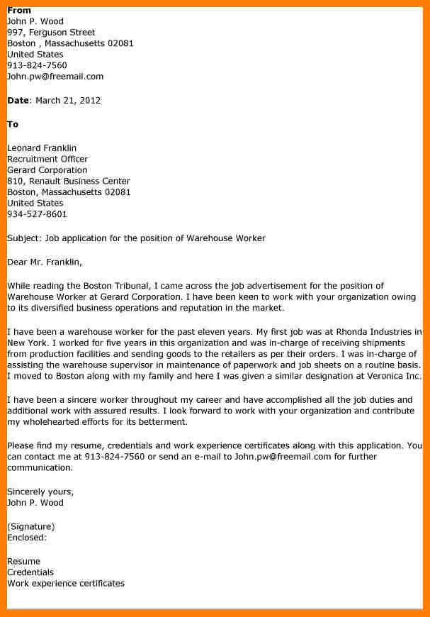 7 cover letter for warehouse memo heading News to Go 3 Pinterest - warehouse worker job description resume