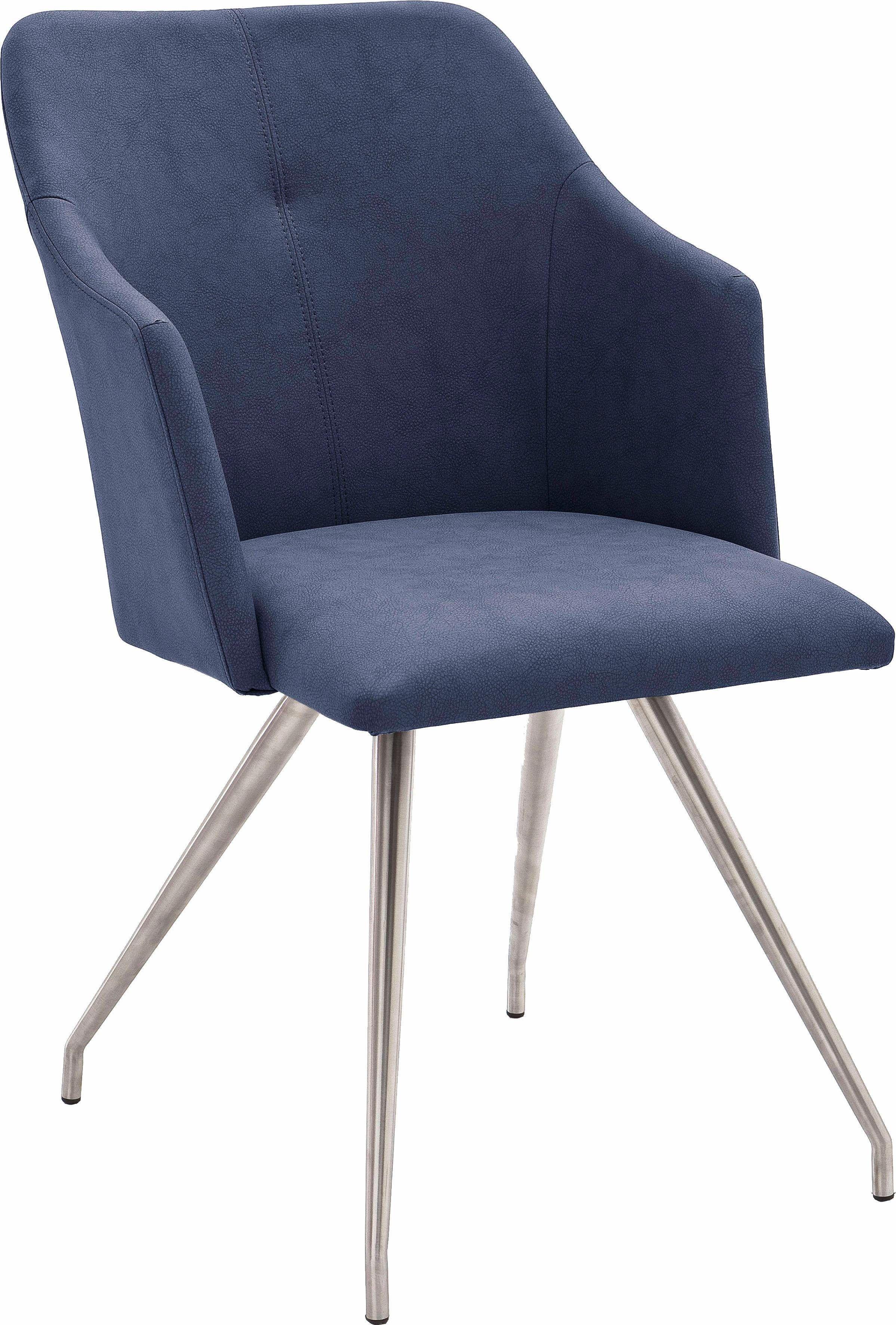 Stühle (2 Stück) Blau, 4 Fuß Stuhl Oval, Pflegeleichtes Kunstleder,
