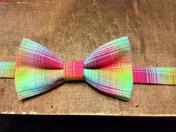 The Surfer - Neon Plaid Bow Tie, Rae Arts