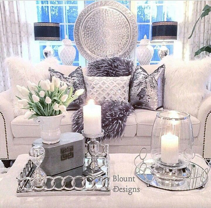 Styling your decor items notice the tray blanket - Decorative things for living room ...