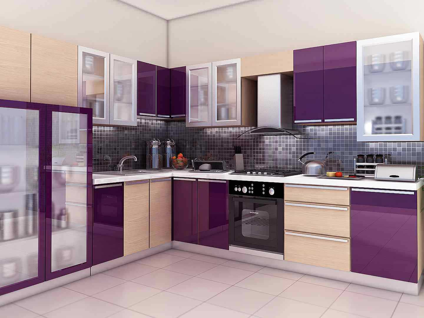 Kitchen Design Ideas In India Kitchen Furniture Design Purple