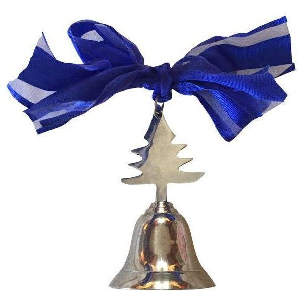 Silver Christmas Tree Bell Ornament (703.700 VND) ❤ liked on ...