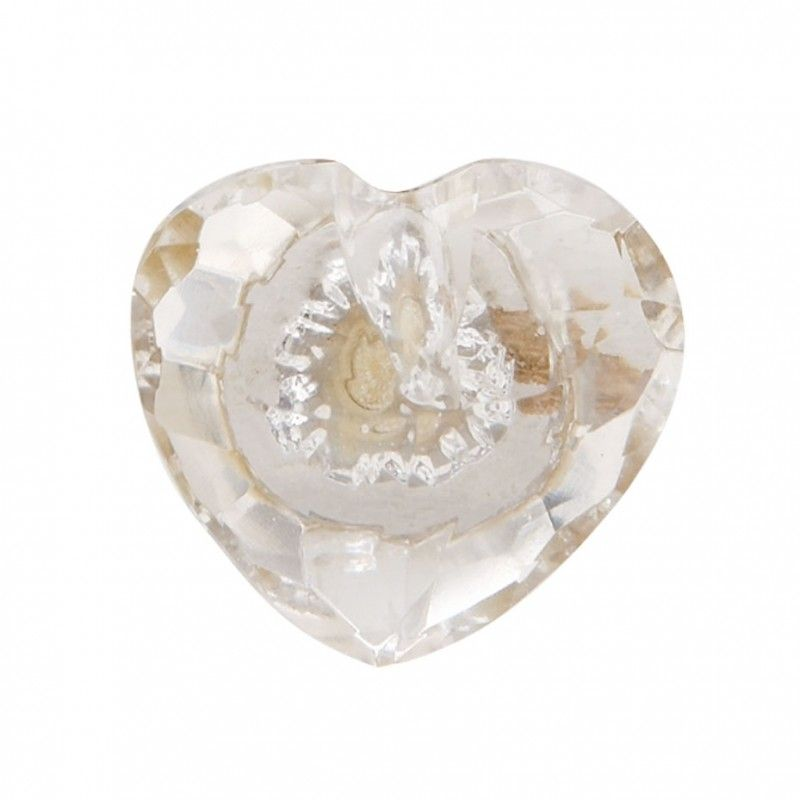 Bombay Duck Faceted Glass Door Knob 3.5 Cm In Clear Glass (also In Pink)