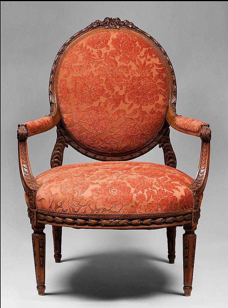 Louis XVI hand carved fautenuils