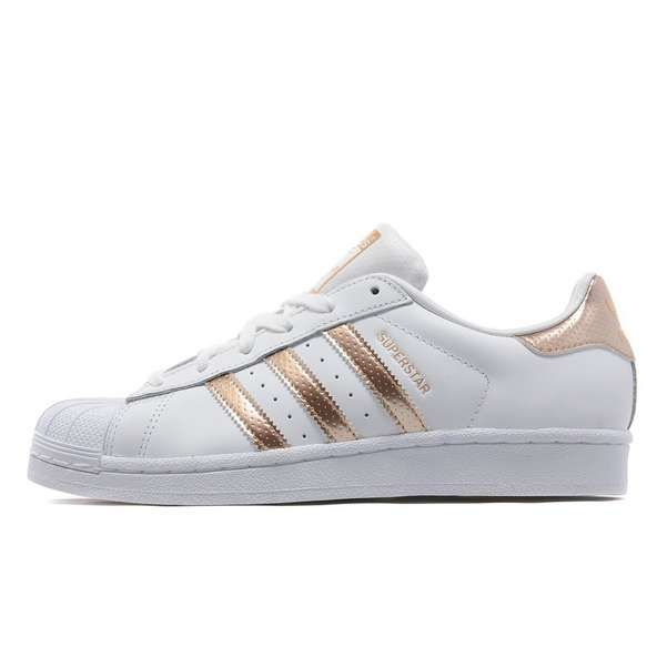 adidas originals superstar blanc / rose femme