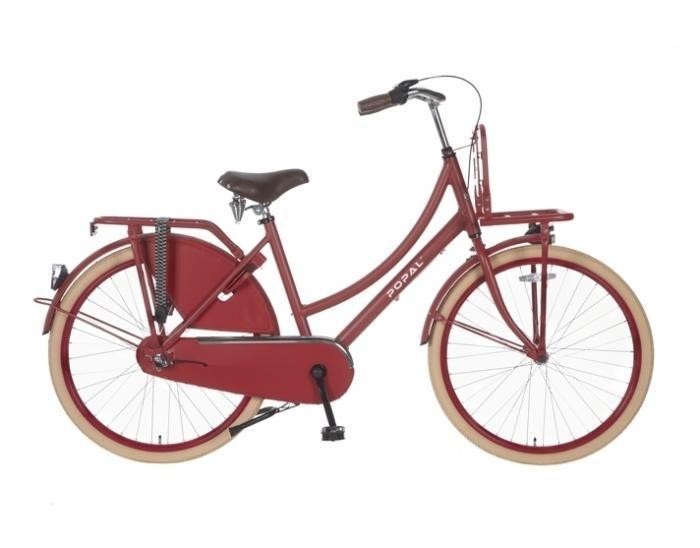 Hollandrad 24 Zoll 3 Gang Rot Weiss Blau Popal Fahrrad Fahrrad