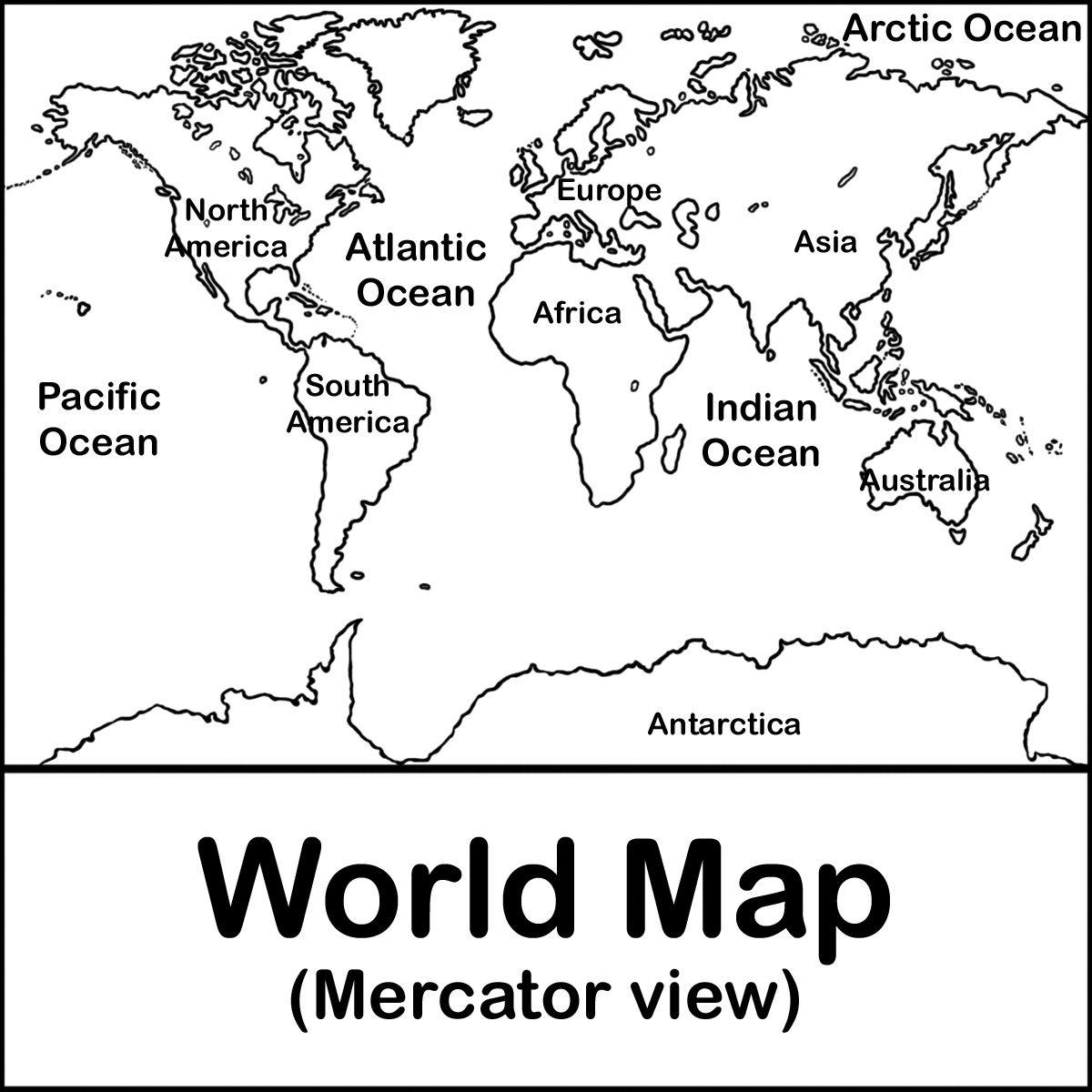 Httpabcteachfreewworldmapmercatorbwlabelg blank maps of the world clip art world map 01 gumiabroncs Choice Image