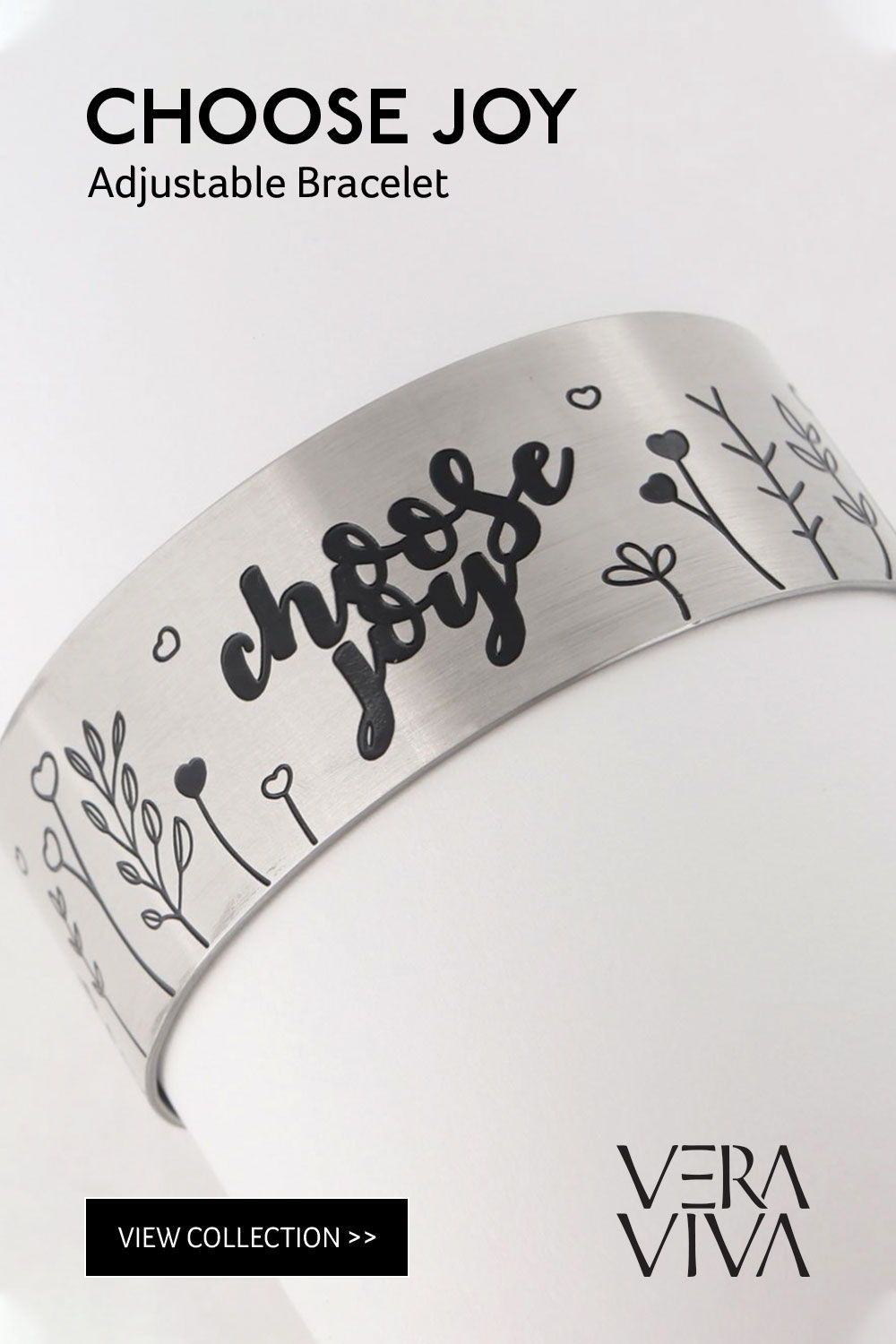 STARAMZ Inspirational Gifts Bracelet Cuff Bangle Mantra Quote Positive Saying Engraved Stainless Steel Motivational Friendship Encouragement Jewelry for Teen Girls Women Men