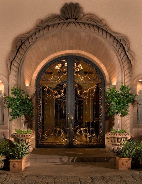Colletti design iron entry doors b the - Exterior doors that open to the outside ...