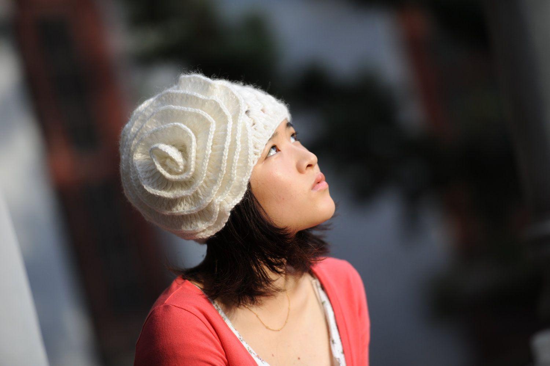 women crochet hat in handmade womens hat cloche hat with flower girls hat Autumn Accessor