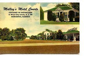 Malloy S Motel Courts Highway 90 Marianna Florida Vintage Advertising Postcard