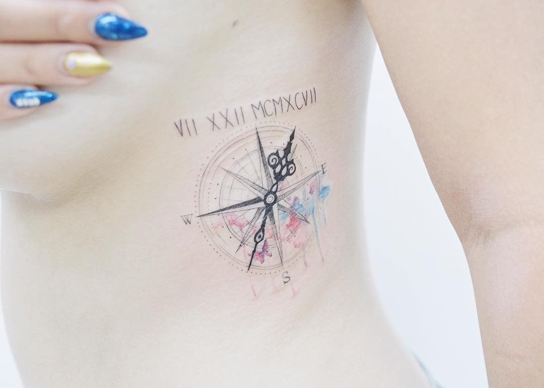 Compass tattoo. Small tattoos are perfect for girls and women ...