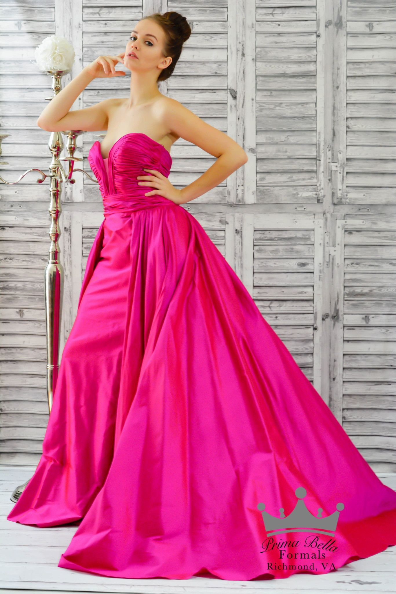 Jovani 36163 In Stock Fuchsia SZ 6 Silk Pageant Evening Gown Prom ...