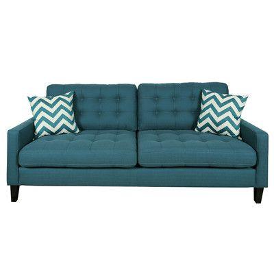 Porter International Designs Hamilton Sofa Upholstery: Deep Teal