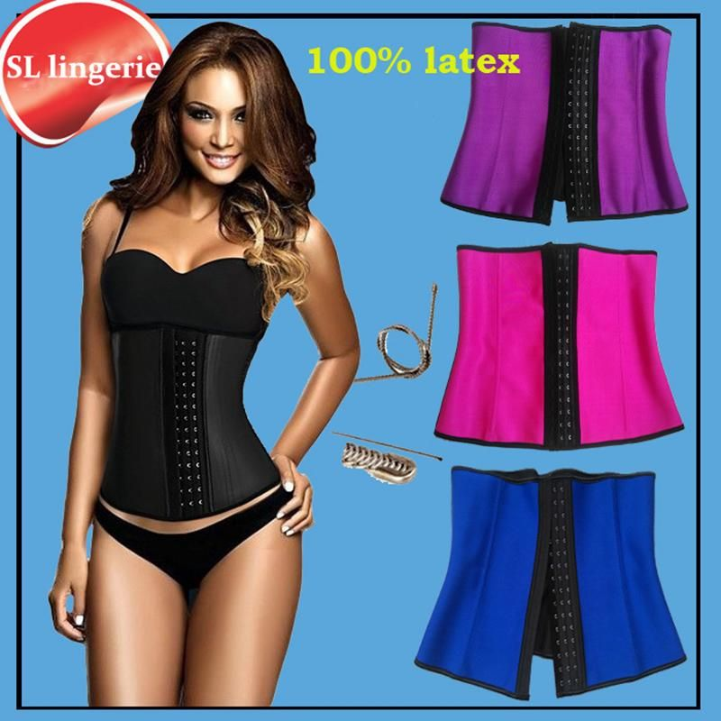 b043da9e1c9 FuzWeb Waist Trainer Corsets and bustiers latex cincher girdles Shapewear  slimming belt body shaper rubber