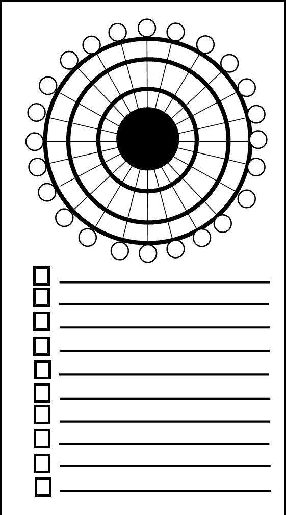 roue imprimer et colorier pour organiser son temps quotidien bullet journal planificateur. Black Bedroom Furniture Sets. Home Design Ideas