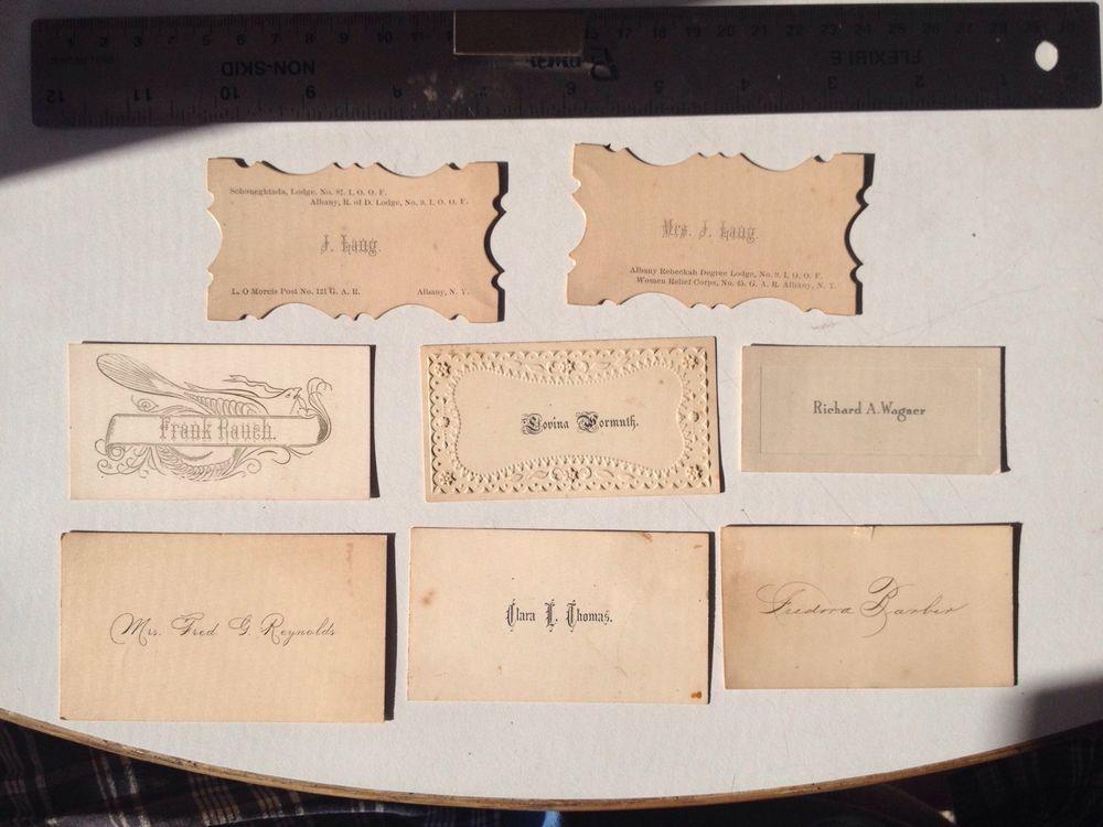 Victorian Vintage Trade & Business Cards Lot Ephemera #Variations ...