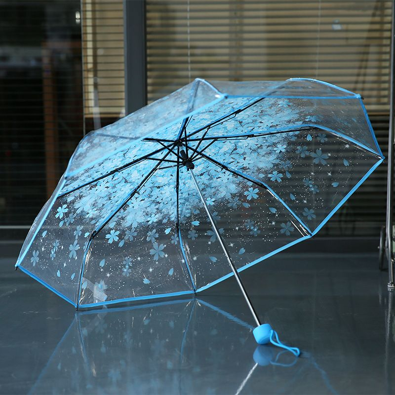 Blue Dreamland — springgette:  Cherry Blossom Umbrella    Discount... #clearumbrella