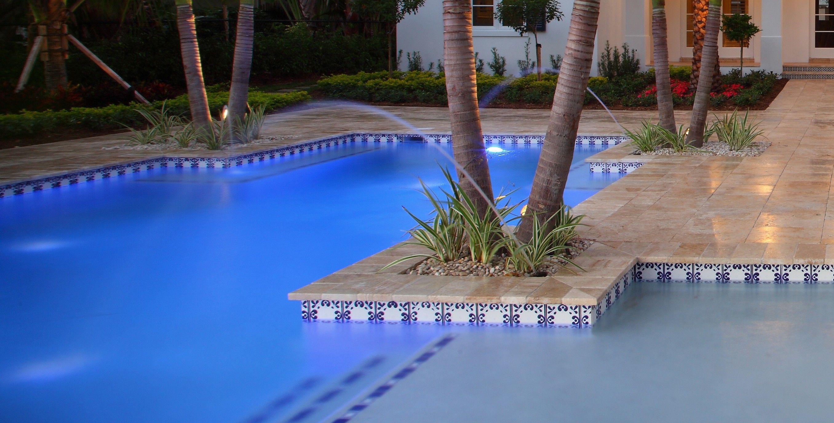 mexican pool tile & fountain design ideas for florida   pool