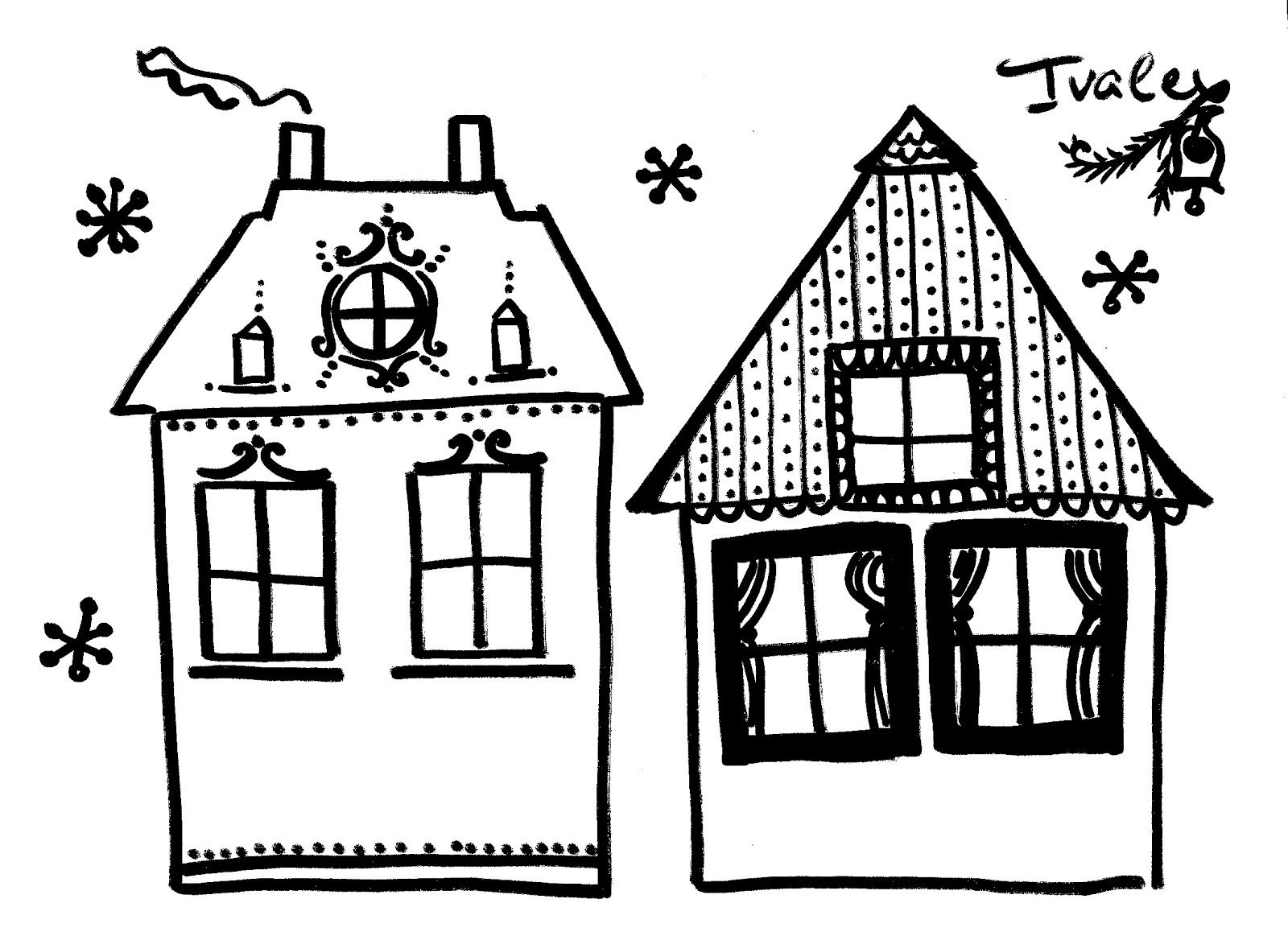 Winter houses templates | Made by me and my children / Направено ...