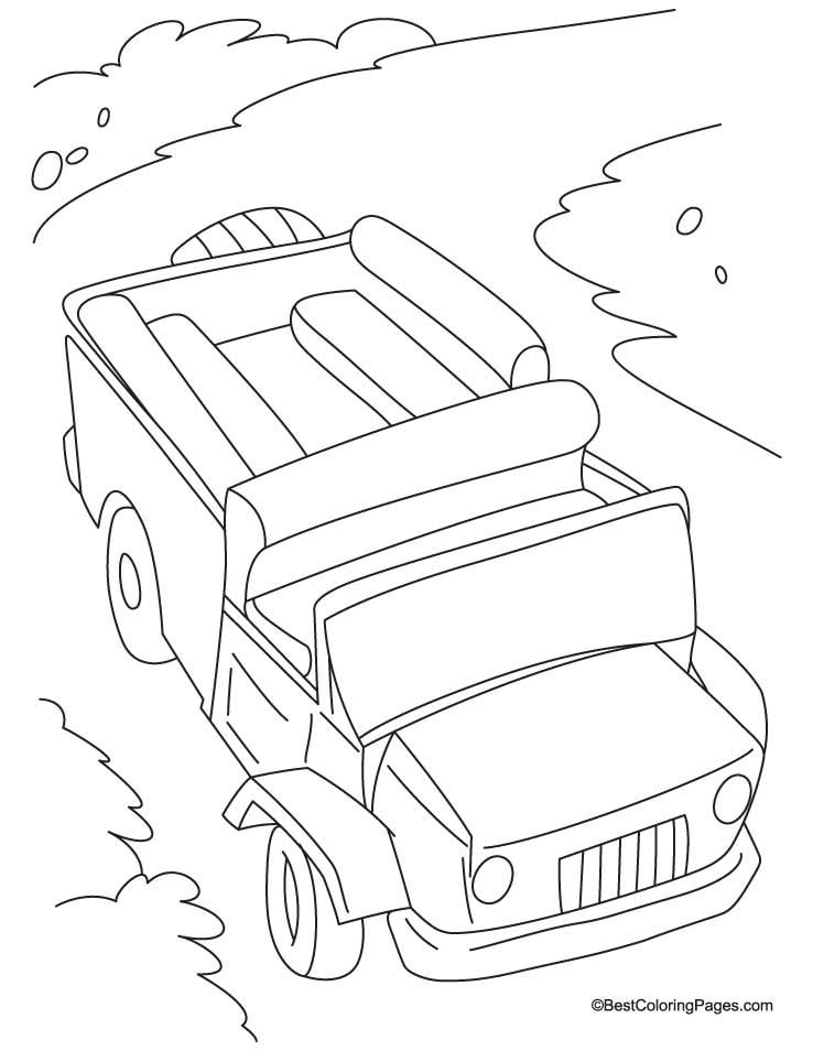 Passenger jeep coloring page | Download Free Passenger jeep coloring ...