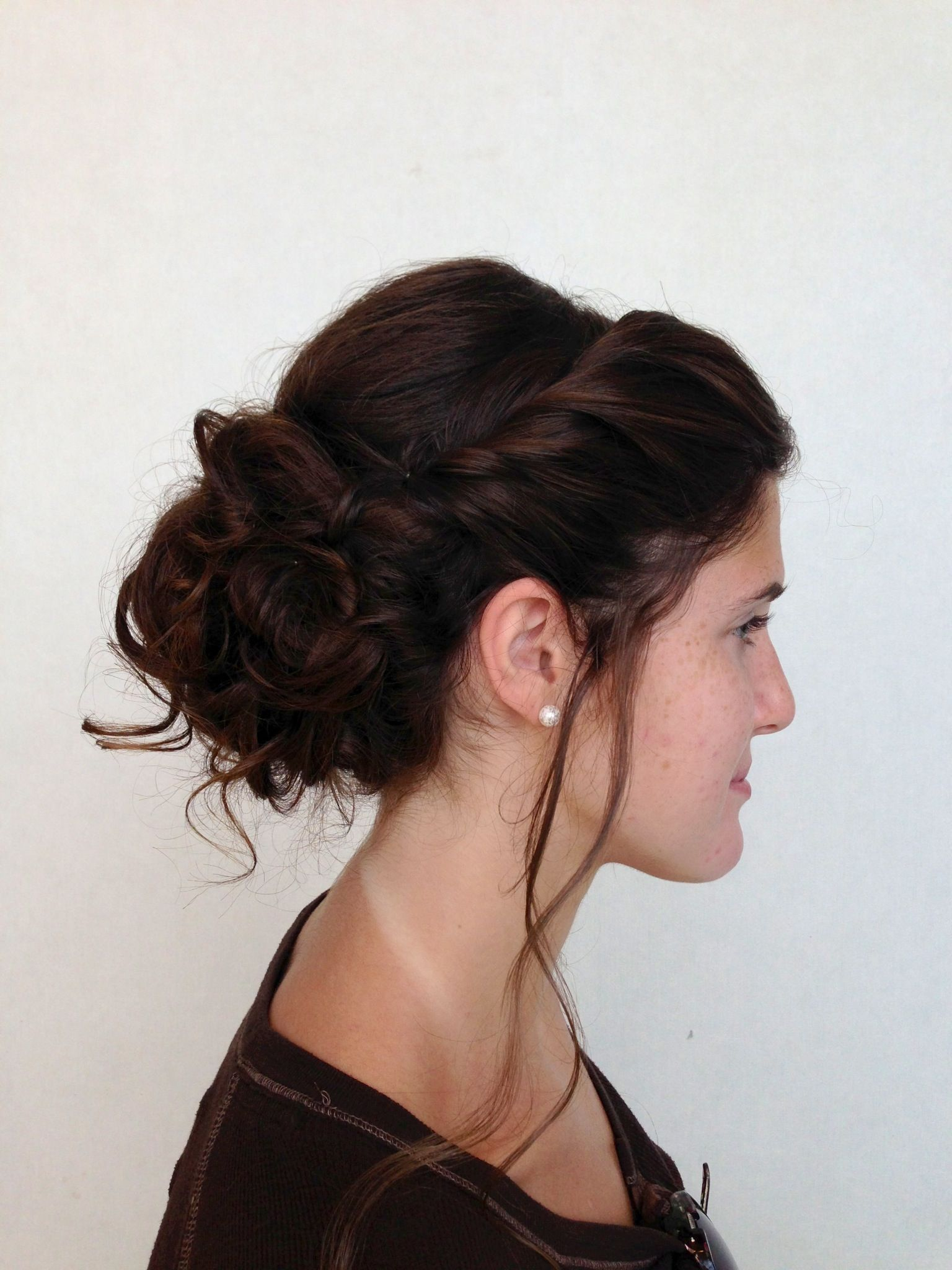 romantic updo (a pretty way to pull bangs back) | wedding