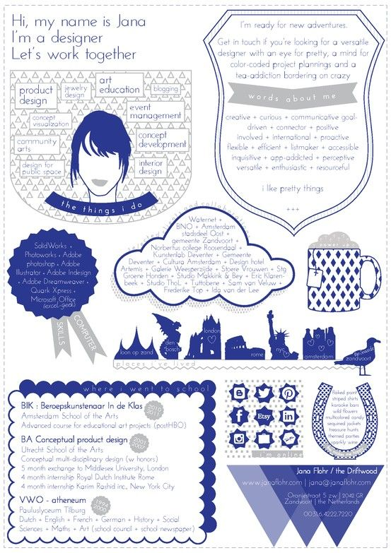 creatieve sollicitatie met een infographic. | Design | Pinterest
