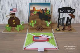 Geschenkbox Wilder Westen Usa Uberraschungsbox Explosionsbox Cowboy