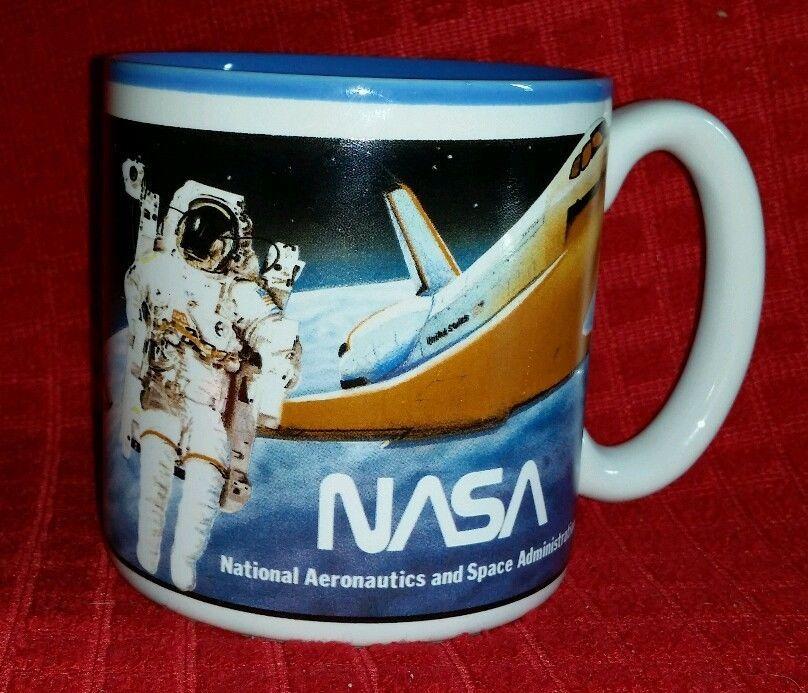 Vintage NASA worm logo Space Shuttle Mug / Cup Historical