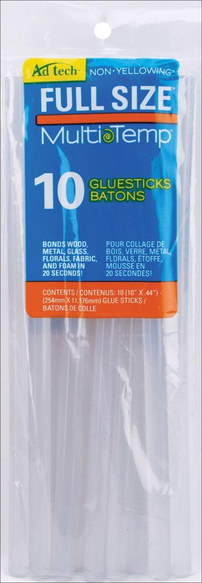 Multi-Temp Glue Sticks-7/16X10 10/Pkg