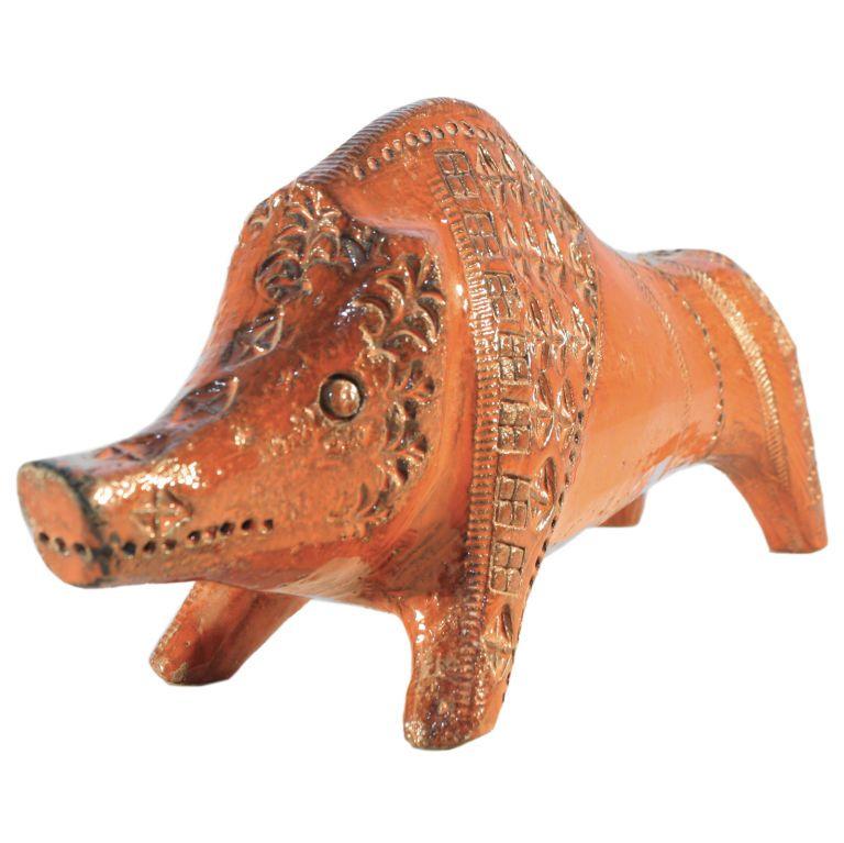 Italian Pottery Raymor Bitossi ceramic Boar