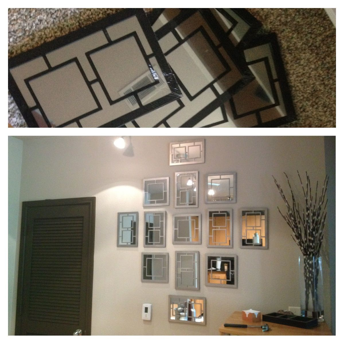 Dollar Store Makeover! $1 Mirrors And A Little Spray Paint
