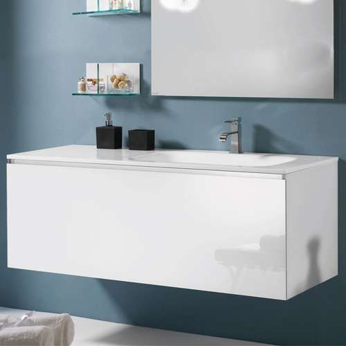 Single Vanity Sink With Extra Counter Top 53 Inch Bathroom