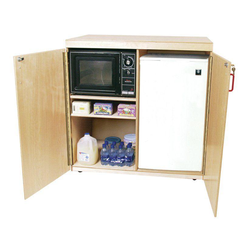 kitchen island mini fridge in bedroom